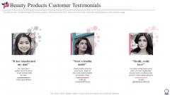 Beauty Products Customer Testimonials Rules PDF
