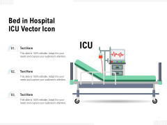Bed In Hospital ICU Vector Icon Ppt PowerPoint Presentation Inspiration Example PDF