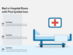Bed In Hospital Room With Plus Symbol Icon Ppt PowerPoint Presentation Layouts Themes PDF