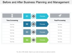 Before And After Business Planning And Management Ppt PowerPoint Presentation Infographic Template Structure