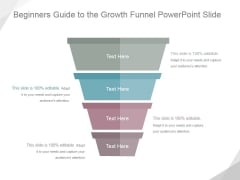 Beginners Guide To The Growth Funnel Ppt PowerPoint Presentation Picture