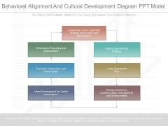 Behavioral Alignment And Cultural Development Diagram Ppt Model