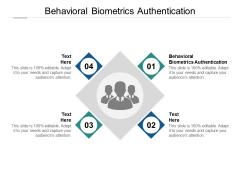 Behavioral Biometrics Authentication Ppt PowerPoint Presentation Outline Design Ideas Cpb Pdf