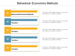 Behavioral Economics Methods Ppt PowerPoint Presentation Infographics Templates Cpb