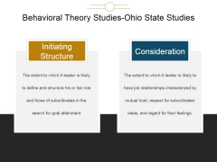 Behavioral Theory Studies Ohio State Studies Ppt PowerPoint Presentation Themes