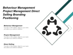 Behaviour Management Project Management Direct Selling Branding Positioning Ppt PowerPoint Presentation File Shapes