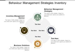 Behaviour Management Strategies Inventory Management Service Business Solutions Ppt PowerPoint Presentation Model Show