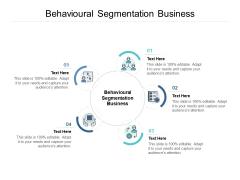 Behavioural Segmentation Business Ppt PowerPoint Presentation Gallery Samples Cpb