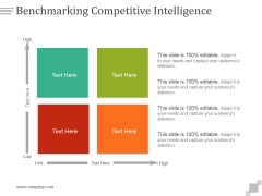 Benchmarking Competitive Intelligence Ppt PowerPoint Presentation Sample