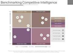 Benchmarking Competitive Intelligence Ppt Slides