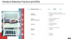 Benchmarking Vendor Operation Control Procedure Vendors Selection Factors And Kpis Background PDF