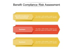 Benefit Compliance Risk Assessment Ppt PowerPoint Presentation Infographic Template Show Cpb