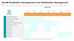 Benefit Realization Management And Stakeholder Management Introduction PDF
