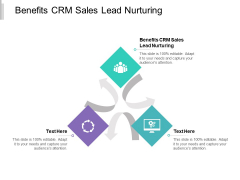 Benefits CRM Sales Lead Nurturing Ppt PowerPoint Presentation Layouts Demonstration Cpb