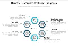 Benefits Corporate Wellness Programs Ppt PowerPoint Presentation Professional Graphics Cpb