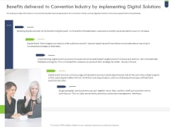 Benefits Delivered To Convention Industry By Implementing Digital Solutions Microsoft PDF
