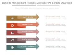 Benefits Management Process Diagram Ppt Sample Download