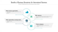 benefits of business directories for international business ppt powerpoint presentation ideas examples pdf