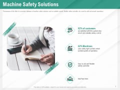 Benefits Of Business Process Automation Machine Safety Solutions Ppt Show Background PDF