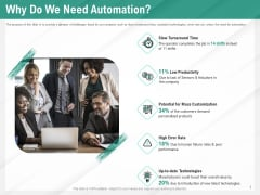 Benefits Of Business Process Automation Why Do We Need Automation Ppt Portfolio Model PDF
