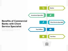 Benefits Of Commercial Banks With Client Service Specialist Ppt PowerPoint Presentation Ideas Pictures PDF