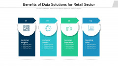 Benefits Of Data Solutions For Retail Sector Ppt PowerPoint Presentation Gallery Brochure PDF