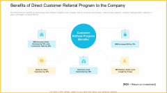 Benefits Of Direct Customer Referral Program To The Company Rules PDF