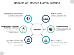 Benefits Of Effective Communication Ppt PowerPoint Presentation Visual Aids Slides