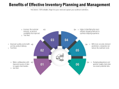 Benefits Of Effective Inventory Planning And Management Ppt PowerPoint Presentation Show Elements PDF