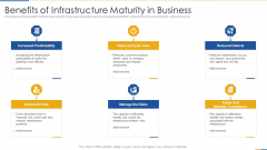 Benefits Of Infrastructure Maturity In Business Clipart PDF