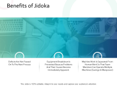 Benefits Of Jidoka Business Ppt PowerPoint Presentation File Examples
