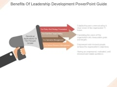 Benefits Of Leadership Development Ppt PowerPoint Presentation Samples