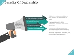 Benefits Of Leadership Ppt PowerPoint Presentation Gallery Example