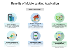Benefits Of Mobile Banking Application Ppt PowerPoint Presentation Styles Aids PDF