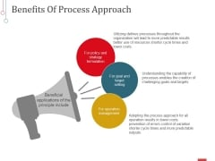 Benefits Of Process Approach Ppt PowerPoint Presentation Inspiration Format