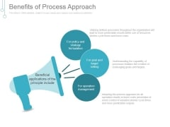 Benefits Of Process Approach Ppt PowerPoint Presentation Layouts