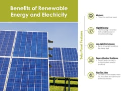 Benefits Of Renewable Energy And Electricity Ppt PowerPoint Presentation Portfolio Backgrounds PDF