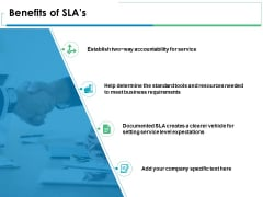 Benefits Of Slas Ppt PowerPoint Presentation Icon Gridlines