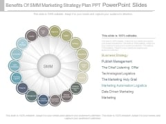 Benefits Of Smm Marketing Strategy Plan Ppt Powerpoint Slides