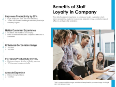 Benefits Of Staff Loyalty In Company Ppt PowerPoint Presentation Icon Show PDF