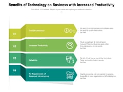 Benefits Of Technology On Business With Increased Productivity Ppt PowerPoint Presentation Pictures Guidelines PDF