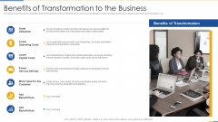 Benefits Of Transformation To The Business Demonstration PDF