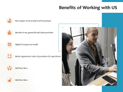 Benefits Of Working With Us Ppt PowerPoint Presentation Summary Format Ideas