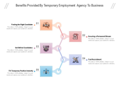 Benefits Provided By Temporary Employment Agency To Business Ppt PowerPoint Presentation Icon Background PDF