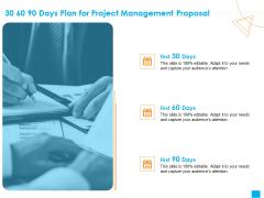 Benefits Realization Management 30 60 90 Days Plan For Project Management Proposal Structure PDF