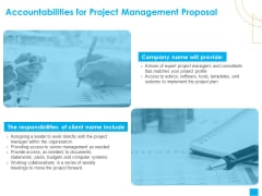 Benefits Realization Management Accountabilities For Project Management Proposal Brochure PDF