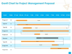 Benefits Realization Management Gantt Chart For Project Management Proposal Brochure PDF