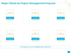 Benefits Realization Management Major Clients For Project Management Proposal Information PDF