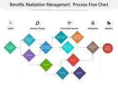Benefits Realization Management Process Flow Chart Ppt PowerPoint Presentation Infographics Background Images PDF