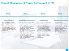 Benefits Realization Management Project Management Phases For Proposal Design Demonstration PDF